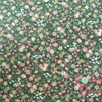 คอตตอนญี่ปุ่นลายดอกไม้เล็กๆ โทนเขียว รุ่น Flower Bouquet Collection เนื้อผ้านิ่มตัดเสื้อได้ เหมาะกับงานผ้าทุกชนิด