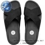 US10 : Fitflop Men's Surfer Slide All Black ของแท้ นำเข้าจาก USA และ UK