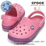 C10/11 (18 cm.) : Crocband II.5 Clog Kids - Pink Lemonade / Dahlia ของแท้ Outlet ไทยและอเมริกา