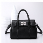 กระเป๋า Style เกาหลี พร้อมส่ง รหัส SUIF0222BK สีดำ สายสะพายแบบถัก เรียบหรู ดูดี