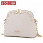 กระเป๋า Axixi รหัส NM12092 สีขาว มีหมุดทองรอบกระเป๋า น่ารัก