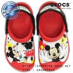 C8/9 (16.5 cm.) : Creative Crocs Mickey Paint Splatter Clog Red ของแท้ Outlet ไทยและอเมริกา