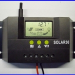 SCC012: โซล่า ชาร์จเจอร์ 30A 12V/24V Solar Controller Regulator Charge Battery Safe Protection