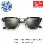 RayBan - RB3016 W0365 Clubmaster Classic Ebony Gold, 49 mm.