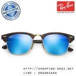 RayBan - RB3016 1145/17 Clubmaster Blue Flash Lens, 51 mm.