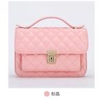 กระเป๋า Axixi พร้อมส่ง รหัส NM12108 สีชมพู สายสะพายริ้วทอง สวยค่ะ