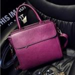 กระเป๋าสะพายข้างผู้หญิงพร้อมส่ง รหัส SUIF0227PP สีม่วง ทรงกล่อง แบบสวย