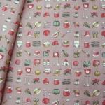 ผ้าฝ้ายไทยลายครัวคันทรี ขนาด 1 เมตร เป็นผ้าฝ้ายผ้าคาเนโบ เนื้อบาง ราคาประหยัด