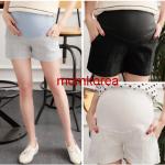 PK87008 กางเกงขาสั้นคนท้อง มี 3 สีให้เลือก ผ้ายืดตามตัวใส่สบายมากๆ ค่ะ มีผ้าพยุงท้อง เ