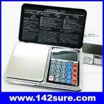 BAL090: เครื่องชั่งดิจิตอลพกพา เครื่องชั่งแบบพกพา Pocket Scale 1000g ความละเอียด0.1g 6IN1 Mini Digital Scale Calculator Clock Thermometer LCD Weigh
