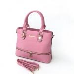 กระเป๋าสะพายข้างผู้หญิงพร้อมส่ง รหัส SUC0021PK สีชมพู แต่งซิปรอบกระเป๋า น่ารักค่ะ