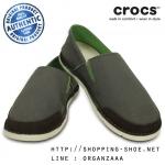 M9 (28 cm.) : Crocs Men's Cabo Loafer - Dusty Olive / Stucco ของแท้ Outlet ไทยและอเมริกา