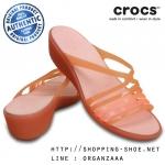 W8 (25 cm.) : Crocs Isabella Mini Wedge - Coral ของแท้ Outlet ไทยและอเมริกา