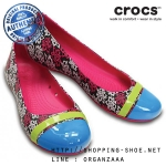 W6 (23 cm.) : Crocs Cap Toe MONDO Roses Flat - Candy Pink ของแท้ Outlet ไทยและอเมริกา