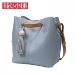 กระเป๋า Axixi พร้อมส่ง รหัส NM12208 สีฟ้า แบบหูรูด สายสะพายสีน้ำตาล น่าใช้มากค่ะ
