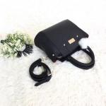กระเป๋าสะพายข้างผู้หญิง รหัส SUC0017ฺBK สีดำ แต่งลายถัก น่ารักค่ะ