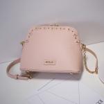 กระเป๋า Axixi รหัส NM12092-3 สีชมพู มีหมุดทองรอบกระเป๋า น่ารัก