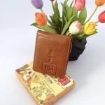 พร้อมส่ง กระเป๋าเงินผู้ชายใบสั้นหนังแท้ สี น้ำตาล งานหนังแท้ทั้งใบ แบบสวย ดูดี น่าใช้ค่ะ
