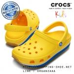C10/11 (18 cm.) : Crocs Retro Clog Kids - Yellow / Ocean ของแท้ Outlet ไทยและอเมริกา