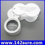 DLT017 กล้องส่องพระ (ระดับเซียนพระ) กล้องส่องจิวเวอร์รี่ พร้อมไฟLED ขยาย 40X-25mm Glass Magnifying Magnifier Jeweler Eye Jewelry Loupe Led Light