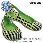 W7 (24 cm.) : Crocs Kadee MONDO Chevron Flat - Volt Green ของแท้ Outlet ไทยและอเมริกา