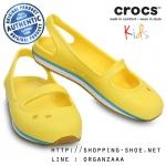 C9 (16.5 cm.) : Crocs Retro Mary Jane Girls - Sunshine / White ของแท้ Outlet ไทยและอเมริกา