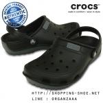 M5/W7 (24.5 cm.) : Crocs Duet Wave Clog - Black / Charcoal ของแท้ Outlet ไทยและอเมริกา