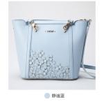 กระเป๋า axixi พร้อมส่ง รหัส NM12085 สีฟ้า สะพายและถือได้ ลายดอกไม้เก๋มากค่ะ