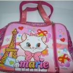 กระเป๋าถือ marie/disney พลาสติกใสสีชมพู