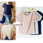 เสื้อแฟชั่นสวยๆ ผ้าฮานาโกะ สีเทา ตัดแต่งผ้าไขว้ เปิดด้านหลังเก๋ๆ แบบยอดนิยม สวยเรียบหรู thumbnail 8