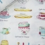 ผ้าคอตตอน / ผ้าฝ้ายญี่ปุ่นลาย กาแฟ ชา และของว่าง ของ Yuwa Life Collection พื้นสีขาว เนิ้อบาง ตัดเสื้อได้ค่ะ มี 4 สีค่ะ thumbnail 2