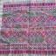 ผ้าปักลายอาข่า พื้นขาวปักโทนชมพูสดใส ผืนสี่เหลี่ยม thumbnail 4