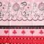 คอตตอนญี่ปุ่น ลาย Alice In Wonderland แนวเทพนิยายโทน ชมพู - แดง ขายที่ 1/2 เมตรเป็นต้นไป เหมาะสำหรับงานผ้าทุกชนิด ตัด กระโปรง ทำกระเป๋า ปลอกหมอน และอื่นๆ thumbnail 1