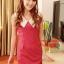 SALE//SALE (ส่งฟรี) ชุดเดรส สไตล์เกาหลี สีชมพูโรส คอปกสีขาว มีซิปด้านข้าง เข้ารูปทรงสวยมากค่ะ thumbnail 1
