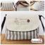 (หมดจ้า) กระเป๋าผ้า แฮนด์เมด ญี่ปุ่น ลายทาง สีน้ำตาล วินเทจ สายหนังสะพายไหล่ สวยเก๋ (ขายปลีก 200,ขายส่ง 3 ชิ้นๆละ 150 บาท คละได้ทุกแบบ) thumbnail 1