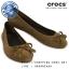 W6.5 (24 cm.) : Crocs Lina Embellished Suede Flat - Hazelnut ของแท้ Outlet ไทยและอเมริกา thumbnail 1