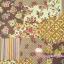 ผ้าคอตตอนลินิน ญี่ปุ่น รุ่น Vintage Collage ลาย Patchwork โทนสีน้ำตาล เนื้อหนานิ่ม thumbnail 1