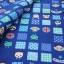 คอตตอนลินินญี่ปุ่นลายสัตว์น่ารัก โทนสีน้ำเงิน เนื้อหนานิ่ม เหมาะทำกระเป๋า ปลอกหมอน ปูโต๊ะ thumbnail 2
