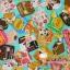 ผ้าคอตตอน ญี่ปุ่น รุ่น กูลิโกะ ลายขนมหวาน สีฟ้า สีสันน่ารักสดใส เนื้อฝ้ายแท้ 100% thumbnail 1