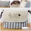 (หมดจ้า) กระเป๋าผ้า แฮนด์เมด ญี่ปุ่น ลายทาง สีเทา วินเทจ สายหนังสะพายไหล่ สวยเก๋ (ขายปลีก 200,ขายส่ง 3 ชิ้นๆละ 150 บาท คละได้ทุกแบบ) thumbnail 1