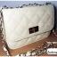 (หมดจ้า) กระเป๋าแฟชั่น สีขาว หนัง PU ลาย Chanel ชาเนล สายโซ่สะพายไหล่ ปรับความยาวได้ แบบยอดนิยม ((โปรโมชั่นส่งฟรี)) thumbnail 5