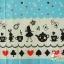ผ้าคอตตอนลินินญี่ปุ่น ลายอลิส (Alice in Wonderland) โทนสีฟ้า น่ารักสดใส thumbnail 1