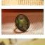 (หมดจ้า) แหวนวินเทจ คริสตัลตัดเหลี่ยมลายนกยูง ตัวแหวนปรับขนาดได้ thumbnail 2