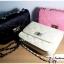 (หมดจ้า) กระเป๋าแฟชั่น สีชมพู หนัง PU ลาย Chanel ชาเนล สายโซ่สะพายไหล่ ปรับความยาวได้ แบบยอดนิยม ((โปรโมชั่นส่งฟรี)) thumbnail 9