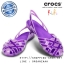 J6 : Crocs Kids Huarache Slingback Flat Girls J - Iris / Neon Purple ของแท้ Outlet ไทยและอเมริกา thumbnail 1