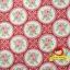 ผ้าฝ้ายญี่ปุ่นลายดอกุหลาบ โทนสีแดงสดใส น่ารักดีค่ะ คอตตอน 100% ตัดเสื้อได้ค่ะ thumbnail 1