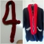 พู่ตกแต่งคอเสื้อ สีแดง แต่งพู่กลมตรงปลาย thumbnail 1