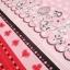 คอตตอนญี่ปุ่น ลาย Alice In Wonderland แนวเทพนิยายโทน ชมพู - แดง ขายที่ 1/2 เมตรเป็นต้นไป เหมาะสำหรับงานผ้าทุกชนิด ตัด กระโปรง ทำกระเป๋า ปลอกหมอน และอื่นๆ thumbnail 5