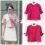 เสื้อแฟชั่นผ้าฮานาโกะ เสื้อทำงาน สีชมพู แขนสามส่วนแต่งโบว์ น่ารักมากๆ สินค้าคุณภาพดี ราคาไม่แพง thumbnail 2