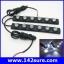 LFC024 ไฟตัดหมอก เดย์ไลท์LED จำนวน1คู่ แสงสีขาว 2*6 LED DRL Driving Daytime Running DayLight สำหรับติดตั้งรถยนต์ thumbnail 1